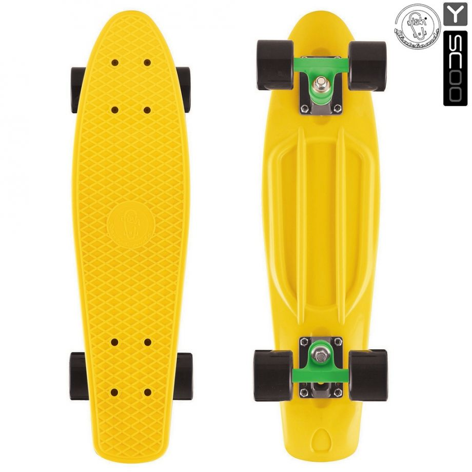 Скейтборд Y-SCOO Big Fishskateboard metallic 27″ винил с сумкой GREEN/black