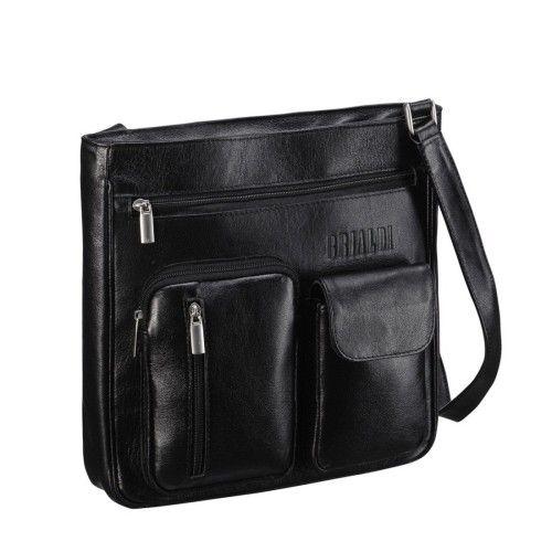 603519b6aaa4 Кожаная сумка через плечо BRIALDI Chester (Честер) black. ‹ ›