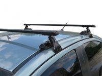 Универсальный багажник на крышу Муравей Д-1, на Hyundai Accent, стальные прямоугольные дуги