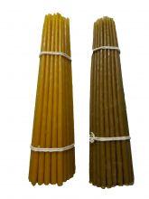 Восковые свечи третьего сорта №3 вес 290 гр., высота 230 мм., диаметр 6 мм., 50 свечей в пачке.