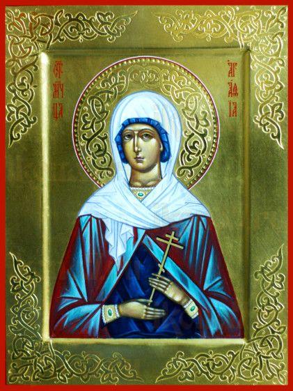 Агафия Никомидийская (рукописная икона)
