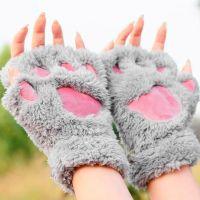 """Зимние женские перчатки """"Кошачьи лапки"""""""