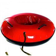 Тюбинг с пластиковым дном Профи 120 см красный