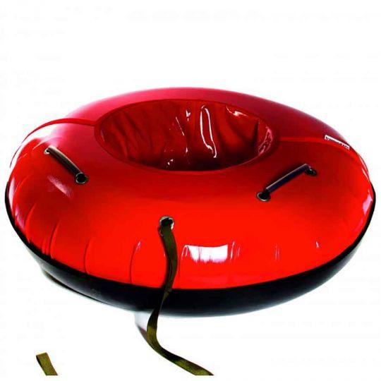Тюбинг 120см Профи с пластиковым дном, красный
