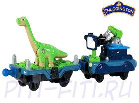 Chuggington. Die-Cast. Прицеп с динозавром и прицеп с камерой