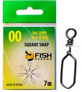 Застёжка Fish Season Square Snap (Артикул: 2009)