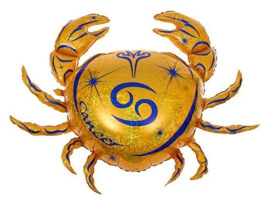 Знак Зодиака Рак фольгированный шар с гелием