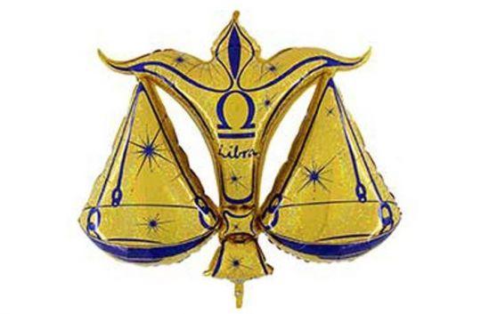 Знак Зодиака Весы фольгированный шар с гелием