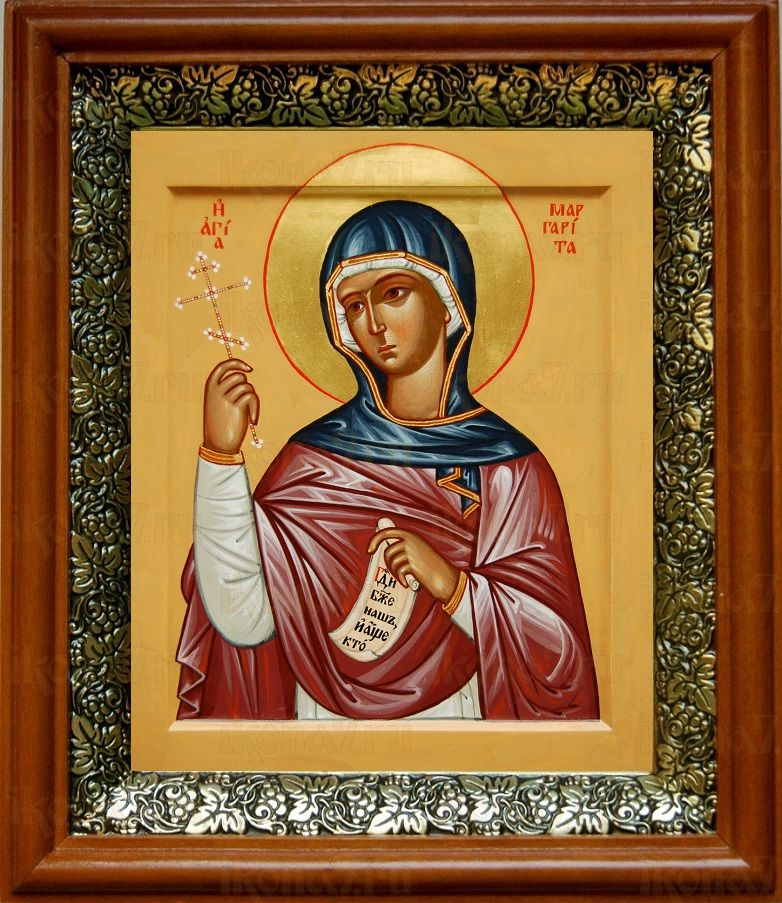 Маргарита Антиохийская (19х22), светлый киот