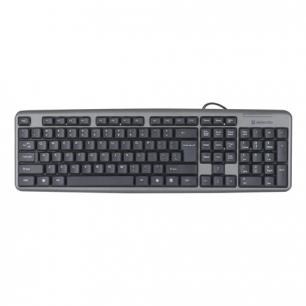 Клавиатура проводная DEFENDER Element HB-520, USB, серый, 45523