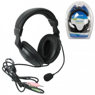 Гарнитура DEFENDER HN-898, проводная, 3м, стерео с оголовьем, регулятор громкости, 63898