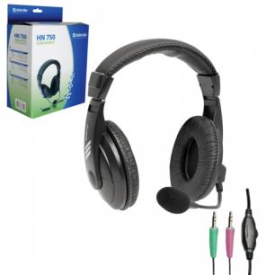 Гарнитура DEFENDER HN-750, проводная, 2м, стерео с оголовьем, регулятор громкости, 63750