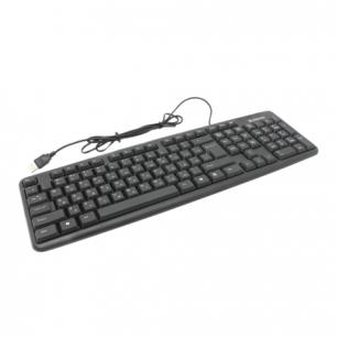 Клавиатура проводная DEFENDER Element HB-520, USB, черный, 45522