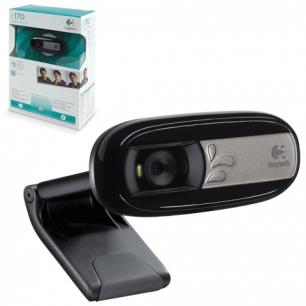 Веб-камера LOGITECH C170, 0,3Мпикс, микрофон, USB 2.0,регулируемый крепеж, черн, (960-000957/960-000760)
