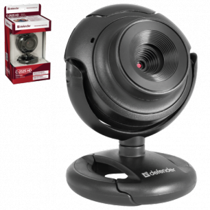 Веб-камера DEFENDER C-2525HD, 2Мп, микрофон, USB 2.0, рег.креп., черн., 63252