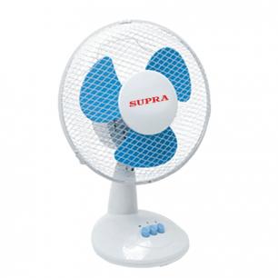 Вентилятор настольный SUPRA VS-901 d=22см, 30Вт, 2 скор.режима, цвет белый