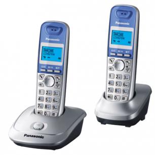 Радиотелефон PANASONIC KX-TG2512 RUS+доп. трубка, пам 50ном АОН повтор, (радиус 10-100м), цв серебро