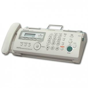 Факс PANASONIC KX-FP218 RUB, печать на обычной бумаге 70-80 г/м2 , А4, АОН, автоответчик