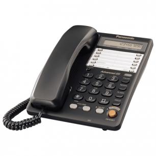 Телефон PANASONIC KX-TS2365RUB, пам 30 ном., ЖК диспл с часами, автодозв, спикерфон, черный