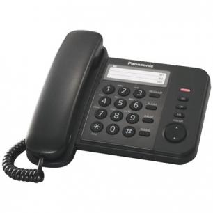 Телефон PANASONIC KX-TS2352RUB, черный, пам 3 ном, повторный набор, тон/имп режим, индикатор вызова