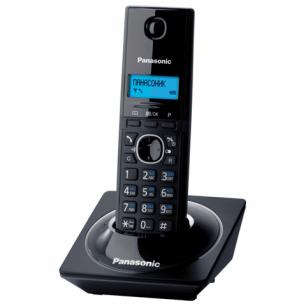 Радиотелефон PANASONIC KX-TG1711RUB, пам 50ном АОН повтор, часы/будильник (радиус 10-100м), цв. чёрный