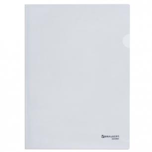 Папка-уголок BRAUBERG, прозрачная 0,10мм, 223966