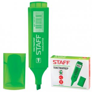 Текстмаркер STAFF эконом, скошенный наконечник 1-5 мм, зеленый, 150727
