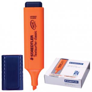 "Текстмаркер STAEDTLER (Штедлер, Германия)  ""Textsurfer classic"", скошен.наконеч, 1-5мм, флюор.оранж, 364-4"