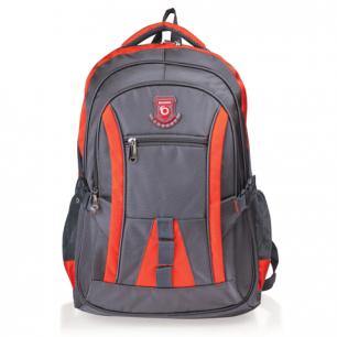 """Рюкзак для школы и офиса BRAUBERG """"SpeedWay 2"""", разм. 46*32*19см, ткань, серо-оранжевый, 224448"""