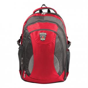 """Рюкзак для школы и офиса BRAUBERG """"StreetBall 1"""", разм. 48*34*18см, ткань, серо-красный, 224451"""