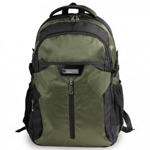 """Рюкзак для школы и офиса BRAUBERG """"StreetRacer 2"""", разм. 48*34*18см, ткань, черно-зеленый, 224450"""