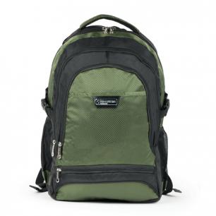 """Рюкзак для школы и офиса BRAUBERG """"StreetRacer 1"""", разм. 48*34*18см, ткань, черно-зеленый, 224449"""