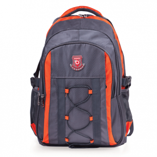 """Рюкзак для школы и офиса BRAUBERG """"SpeedWay 1"""", разм. 46*32*19см, ткань, серо-оранжевый, 224447"""