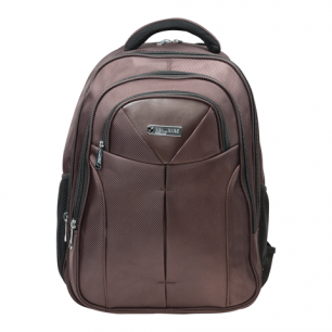 """Рюкзак для школы и офиса BRAUBERG """"Toff"""", разм. 46*35*25см, ткань, коричневый, 224457"""