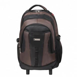 """Рюкзак для школы и офиса BRAUBERG """"Jax 2"""", разм. 54*37*23см, ткань, на колесах, черно-корич., 224459"""