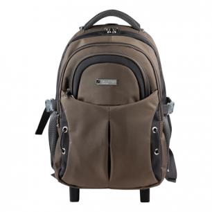 """Рюкзак для школы и офиса BRAUBERG """"Jax 1"""", разм. 43*33*23см, ткань, на колесах, черно-корич., 224458"""