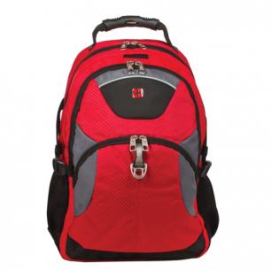 Рюкзак WENGER (Швейцария), универсальный, красно-черный, серые вставки, 34*17*47см, 26л, 3259112410
