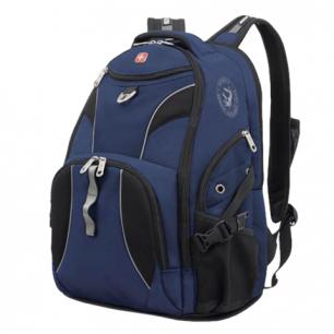 Рюкзак WENGER (Швейцария), универсальный, сине-черный, 34*17*47см, 26л, 98673215
