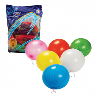"""Шары воздушные 16"""" (41см), КОМПЛЕКТ 25шт., панч-болл (шар-игрушка с резинкой) 12неон цв, пакет, 1104-0005"""