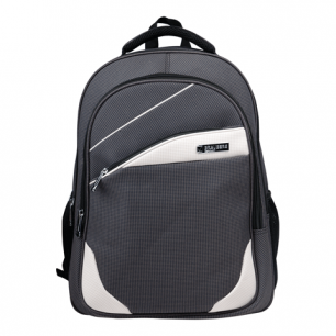 """Рюкзак для школы и офиса BRAUBERG """"Sprinter"""", разм. 46*34*21см, ткань, серо-белый, 224453"""