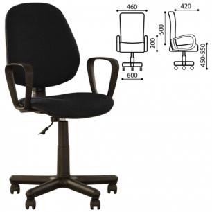 """Кресло оператора """"Forex GTP"""" с подлокотниками, черно-серое С-38, ш/к 15430"""