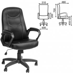 """Кресло офисное """"Стандарт"""", CH 511, кожзам, черное, ш/к 13074"""
