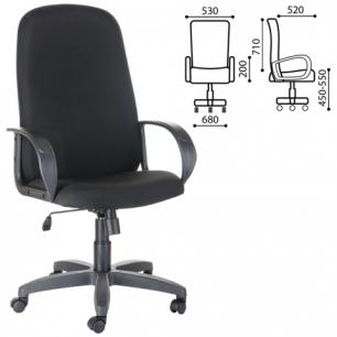 """Кресло офисное """"Фаворит"""", СН 279, высокая спинка, с подлокотниками, черное B-14, ш/к33010"""