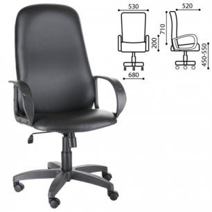 """Кресло офисное """"Фаворит"""", СН 279, высокая спинка, с подлокотниками, кожзам, черное, ш/к33058"""