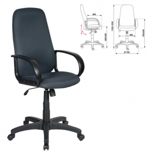 Кресло офисное CH-808AXSN, серое TW-12, ш/к 01229