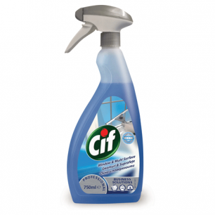 Средство для мытья стекол и поверхностей CIF Professional 750мл, ш/к 16409
