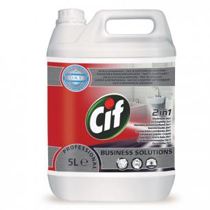 Средство для туалетных комнат CIF Professional 5л, 2 в 1, ш/к 16461