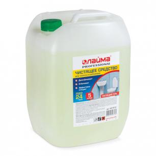 Средство для уборки туалета ЛАЙМА PROFESSIONAL 5л, ГЕЛЬ с отбеливающим эффектом, 601612