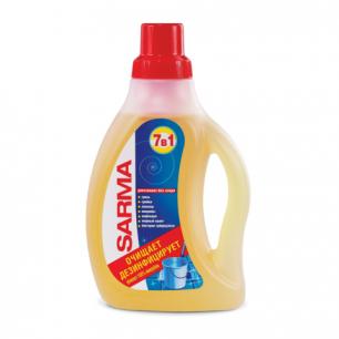"""Средство для мытья пола SARMA (Сарма)  750мл, """"Лимон"""", антибактериальное, концентрат, 09088"""