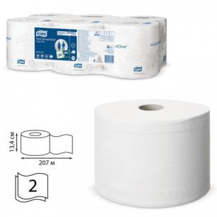 Бумага туалетная 207м, TORK (T8)  SmartOne, КОМПЛ.6шт, Advanced, 2-сл, белая, (диспенсер 601666), 472242